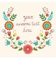 Beautiful floral wreath card vector image vector image