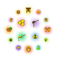 beekeeping icons set comics style vector image