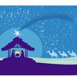 Biblical scene - birth of Jesus in Bethlehem vector image