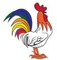 big cartoon rooster vector image vector image