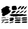 black paint brush stroke on white background vector image vector image