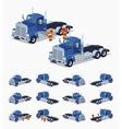 Blue heavy truck vector image vector image