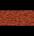 brick wall background red and brown stones vector image vector image