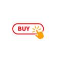 buy button icon design ui material buy vector image vector image