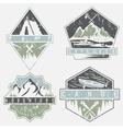canoe camping and adventure vintage grunge labels vector image vector image