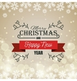 card merry christmas and happy new year graphic vector image vector image