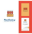 carrots farm creative logo and business card vector image