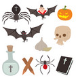 cartoon dracula coffin symbols vampire vector image vector image