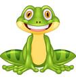 cartoon happy frog vector image vector image