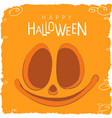 cheerful pumpkin face for halloween vector image vector image