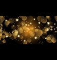christmas banner with bokeh lights and stars vector image vector image