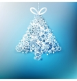 Christmas tree made from paper snowflakes EPS 10 vector image vector image