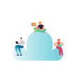 cloud computing technology cartoon characters vector image