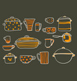 cookware set vector image