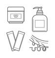 cosmetic equipment for waxing procedure vector image