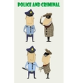 criminals caught by the police vector image vector image