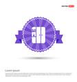 cupboard icon - purple ribbon banner vector image