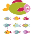 fish signs vector image vector image