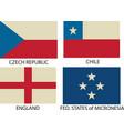 flag symbol vector image vector image