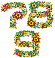 flower and bush letters 13 vector image vector image