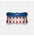 fourth of july usa national holiday background vector image