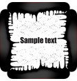 frame with paint drips vector image vector image
