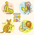 Funny zoo animals kids alphabet Hand drawn ink vector image vector image
