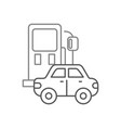 gas station and car icon over white background vector image
