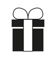 Gift box sign black icon on vector image