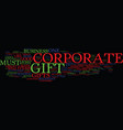great corporate gift text background word cloud vector image vector image