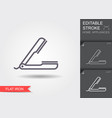 hair straightener line icon with editable stroke vector image