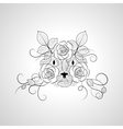 Hand drawn ornate graphic cat face vector image vector image