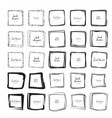hand drawn square frames vector image