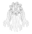 Hand drawn zentangle Dreamcatcher with Love vector image vector image