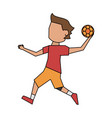 handball player cartoon vector image