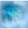 Hi-tech abstract geometric blue background vector image vector image