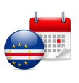 Icon of National Day in Cape Verde vector image vector image