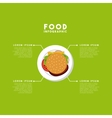 infographic presentation of food vector image