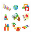 kindergarten educational toys vector image vector image