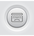 Laptop Button Icon vector image