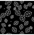 Leaf pattern monochrome simple minimalistic vector image vector image