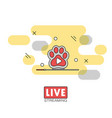 live streaming concept vector image vector image