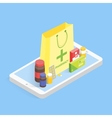 Modern pharmacy and drugstore concept Isometric vector image vector image
