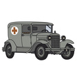 Old military ambulance vector image vector image