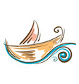painting of a colorful boat or color vector image vector image
