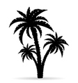 palm tree silhouette 06 vector image vector image