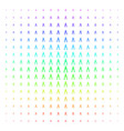 pliers icon halftone spectrum grid vector image