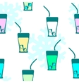 Seamless pattern drink vector image vector image
