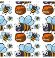 seamless pattern tile cartoon with flying bee vector image
