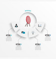 semicircle template infographic 4 positions vector image